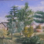Painting of Zaria house, Nigeria
